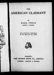 Cover of: The American claimant by Mark Twain