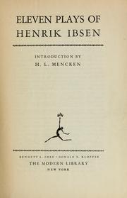 Eleven plays of Henrik Ibsen by Henrik Ibsen