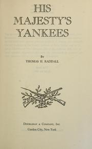 His Majesty's Yankees by Thomas Head Raddall
