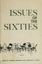 Issues of the sixties by Leonard Freedman