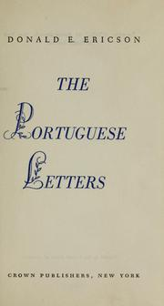 The Portuguese letters by Guilleragues, Gabriel Joseph de Lavergne vicomte de