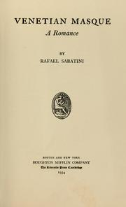 Cover of: Venetian masque by Rafael Sabatini