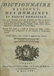 Dictionnaire raisonn des domaines et droit domaniaux by Bosquet Monsieur