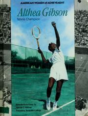 Althea Gibson by Tom Biracree