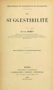 La suggestibilité by Alfred Binet
