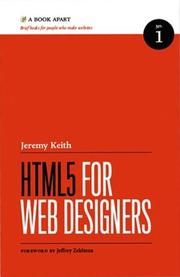 Cover of: HTML5 For Web Designers by