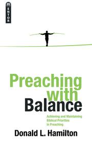 Cover of: Preaching with Balance by