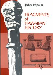 Fragments of Hawaiian history by John Papa Ii