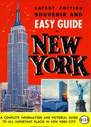 Souvenir and Easy Guide to New York by Aaron Stone, Manhattan Post Card Staff
