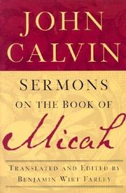 Cover of: Sermons on the Book of Micah by John Calvin