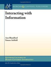 Interacting with Information by Ann Blandford