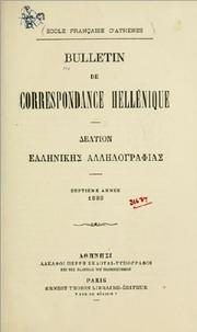 Bulletin de correspondance hellnique by cole franaise d&#39;Athnes