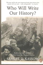 Who Will Wirite Our History? PDF