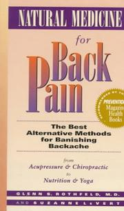 Natural medicine for back pain by Glenn S. Rothfeld