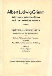 Albert Ludwig Grimm by Gustav Allgayer