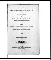 Cover of: Fertilizers and food products by Frank T. Shutt