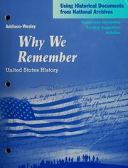 Cover of: Why we remember by
