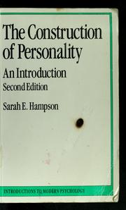 The construction of personality by Sarah E. Hampson