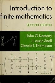 Introduction to finite mathematics by John G. Kemeny