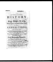 The entertaining history of King Philip&#39;s War by Thomas Church
