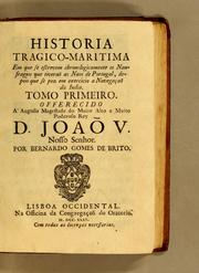 Cover of: Historia tragico-maritima by Bernardo Gomes de Brito