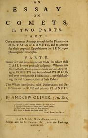 Cover of: An essay on comets by A. Oliver
