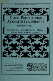 Serial Publications Available by Exchange by Shelley Miller