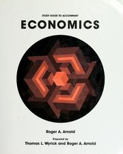 Cover of: Study guide to accompany Economics by Roger A. Arnold