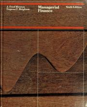 Managerial finance by J. Fred Weston
