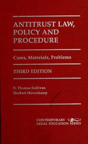 Antitrust law, policy, and procedure PDF