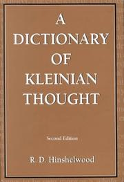 A dictionary of Kleinian thought PDF