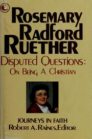 Disputed questions by Rosemary Radford Ruether