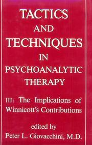 Tactics and Techniques in Psychoanalytic Therapy PDF