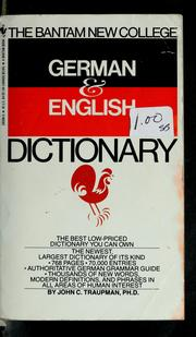 The Bantam new college German & English dictionary PDF