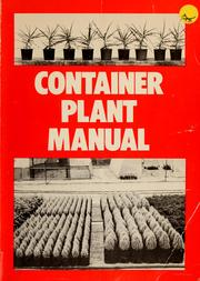 Cover of: Container Plant Manual (172p) by John Edmonds