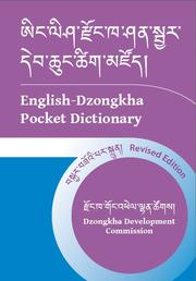 English-Dzongkha Pocket Dictionary by Dorji, Sangye