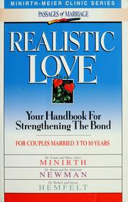 Cover of: Realistic love by Frank and Mary Alice Minirth ... [et al.].