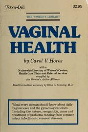 Cover of: Vaginal health by Carol V. Horos