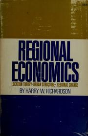 Regional economics by Harry Ward Richardson