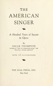 The American singer by Oscar Thompson