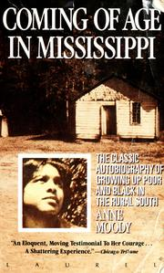 Cover of: Coming of age in Mississippi by Anne Moody