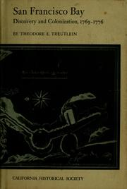 Cover of: San Francisco Bay by Theodore E. Treutlein