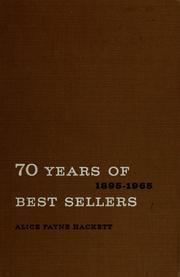 70 years of best sellers, 1895-1965 PDF