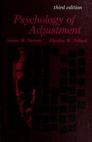 Psychology of adjustment by James M. Sawrey