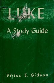 Luke, a study guide PDF