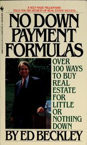 No Down Payment Formulas by Ed Beckley