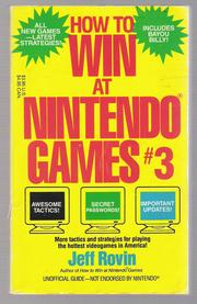 How to Win at Nintendo Games, # 3 by Jeff Rovin