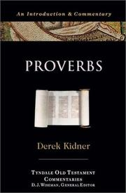 The Proverbs by Derek Kidner