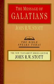 The message of Galatians PDF