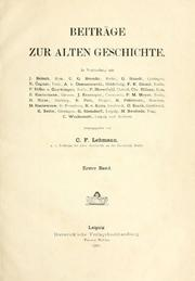 Cover of: Klio by Carl Friedrich Lehmann-Haupt